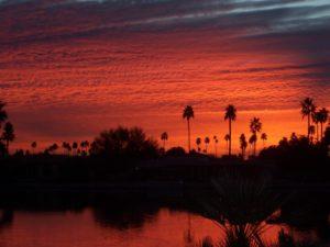 Solnedgang i Sun City